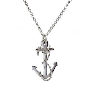 Caroline Jones anchor necklace with twisted rope 01