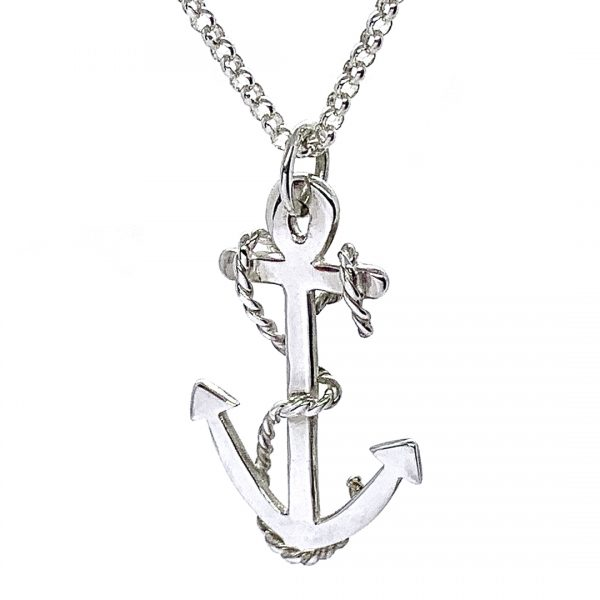 Caroline Jones anchor necklace with twisted rope 03