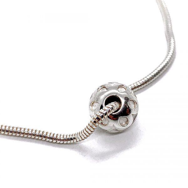 Caroline Jones flower sphere on snake chain bracelet 03