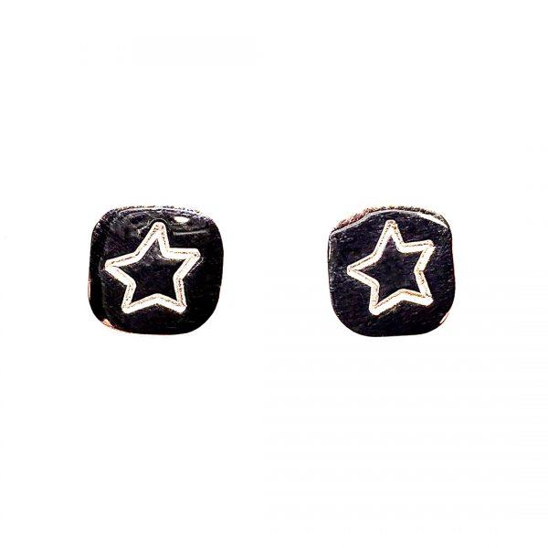 Caroline Jones stamped motif studs - stars