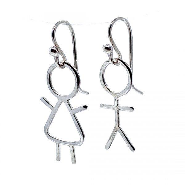 Caroline Jones stick people earrings 01