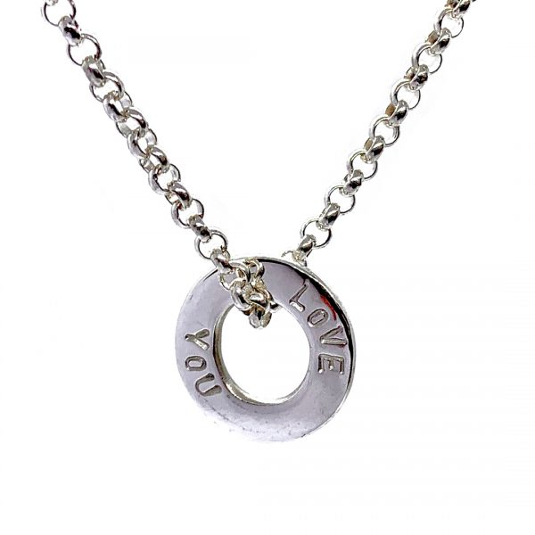 Caroline Jones text disc necklace 03