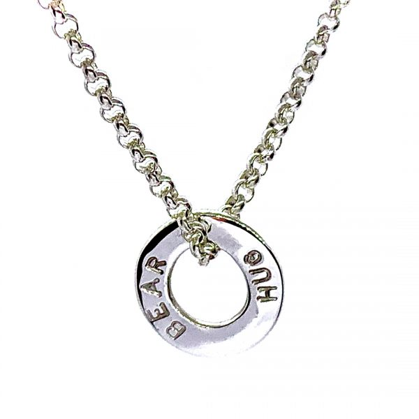 Caroline Jones text disc necklace 04