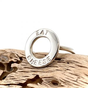 Caroline Jones text disc ring 04